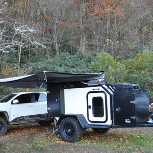 white expedition off road trailer