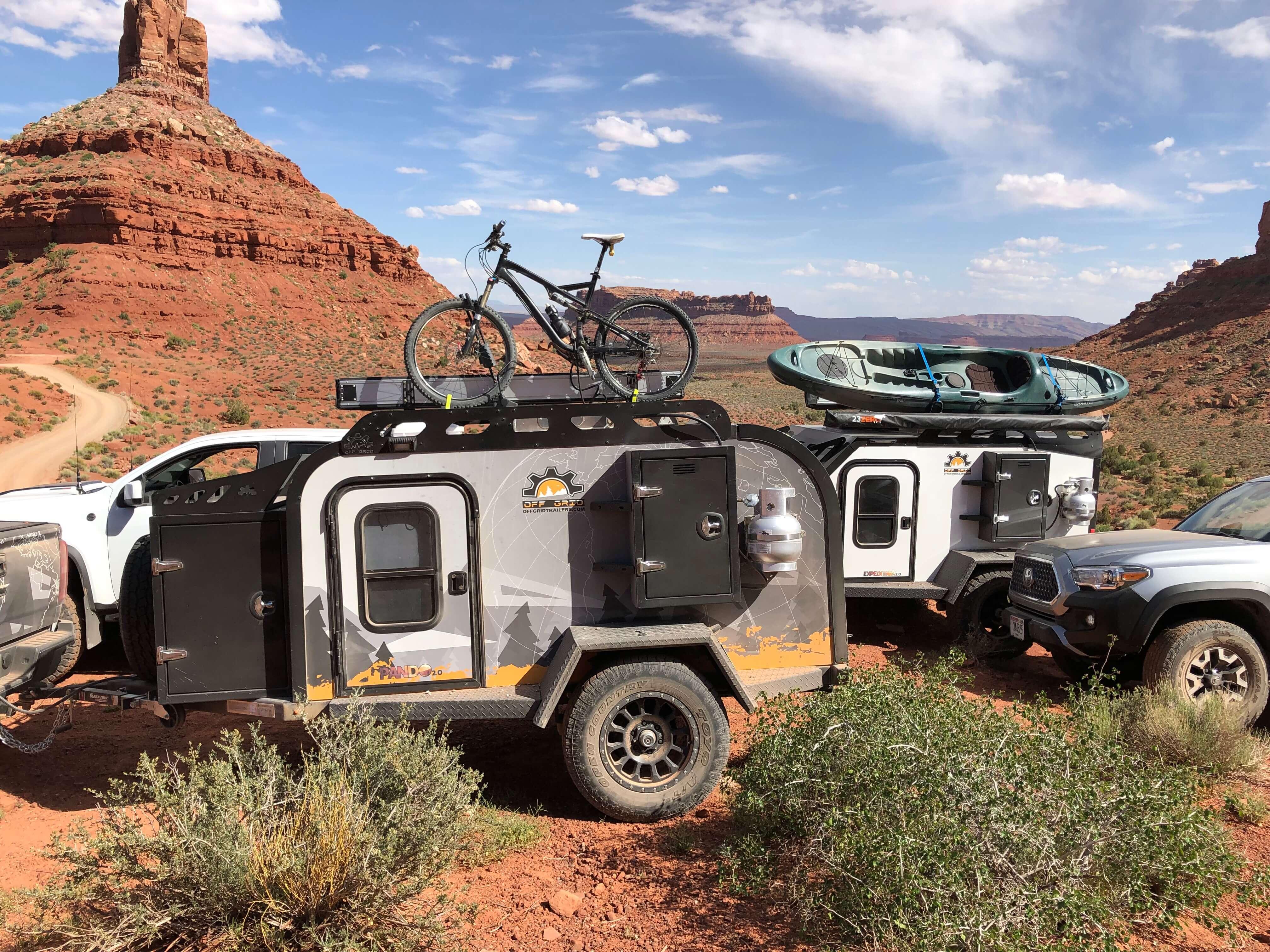 overland trailers in desert