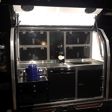 rear galley off road teardrop camper