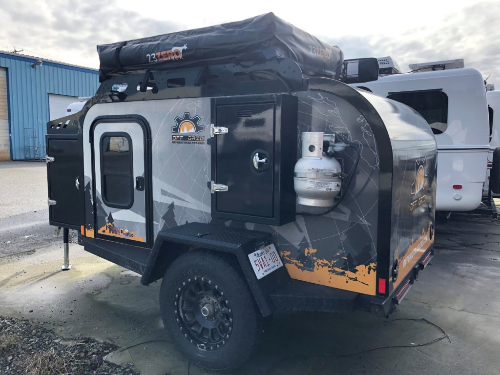 off road teardrop camper demo model