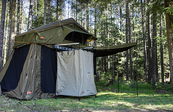 off road trailer with awning