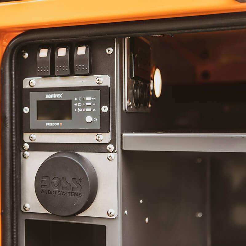 stereo in overlanding utility trailer