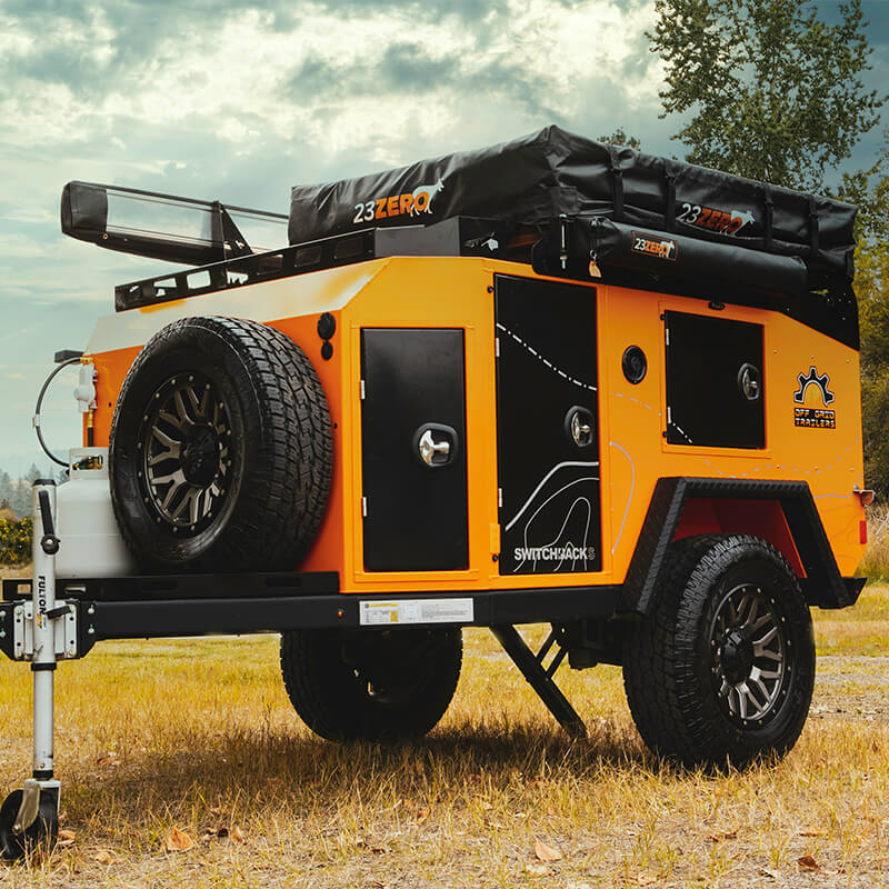 orange switchback off road utility trailer