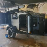 side view of 4x4 trailer with awning