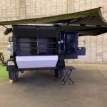 back galley of overland trailer with awning