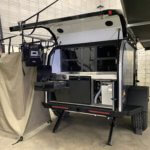 back galley of off road camper trailer