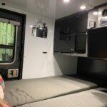 inside cabin of overland trailer
