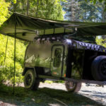 off road camper trailer with awning