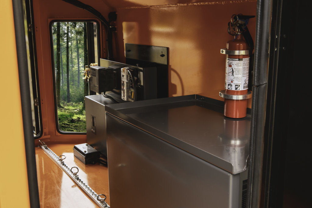 inside off road camper trailer