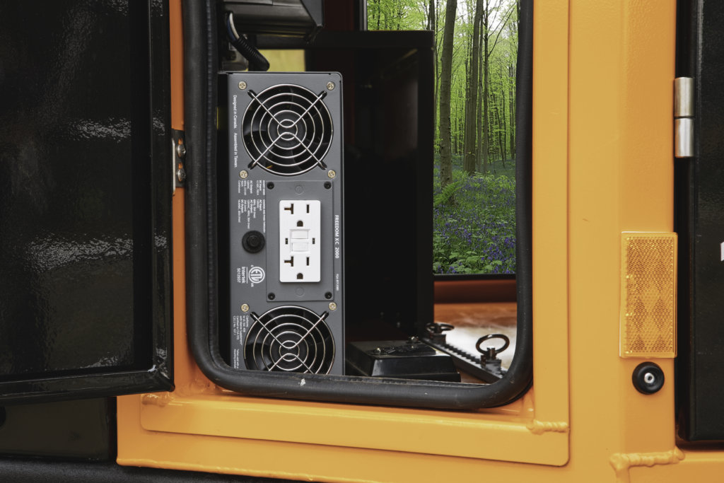 stereo in off road camper