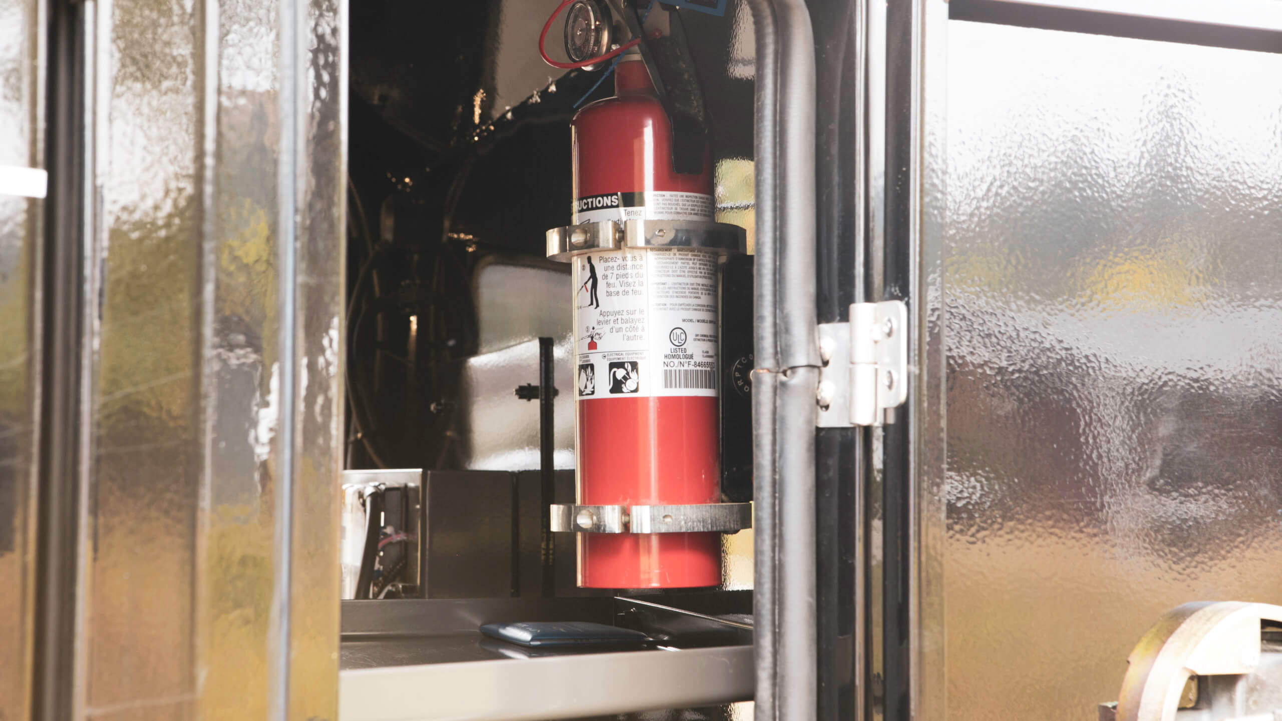 fire extinguisher in off road trailer