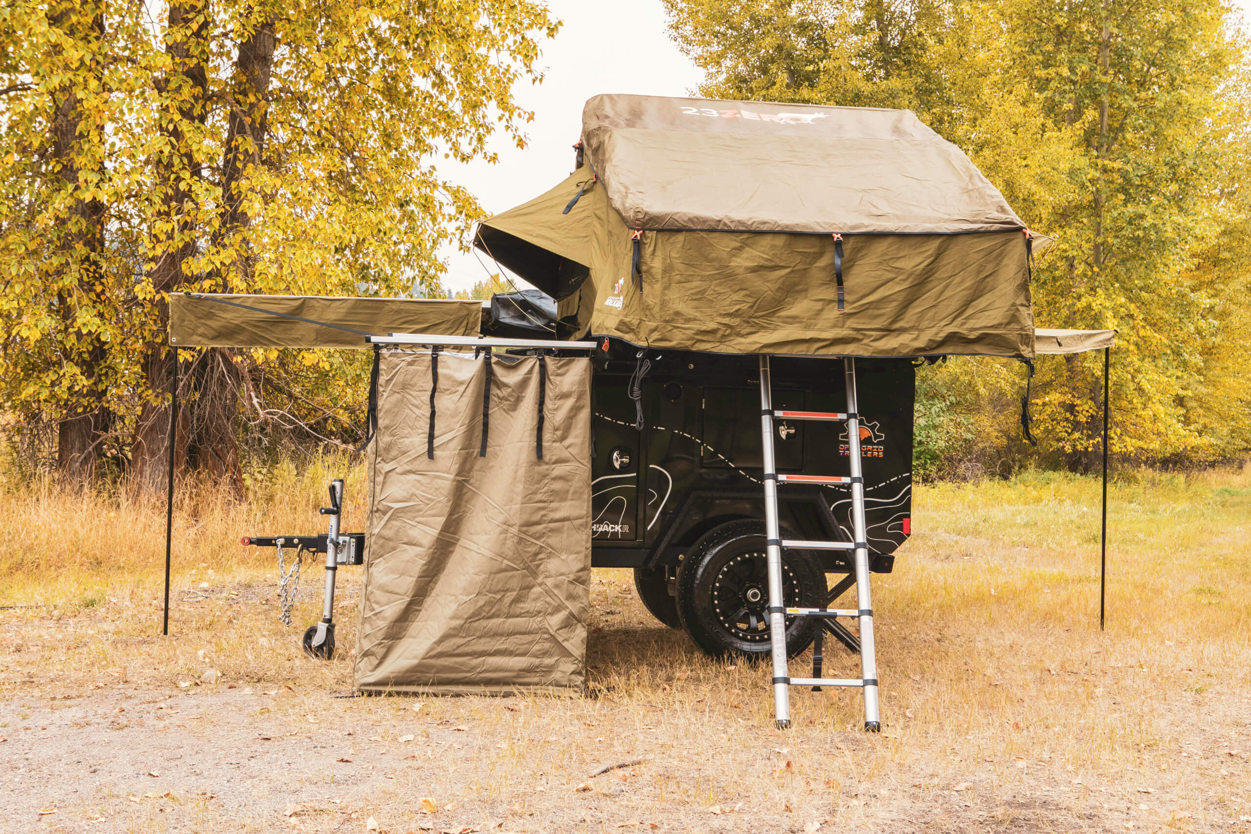 off road camper with roof top tent