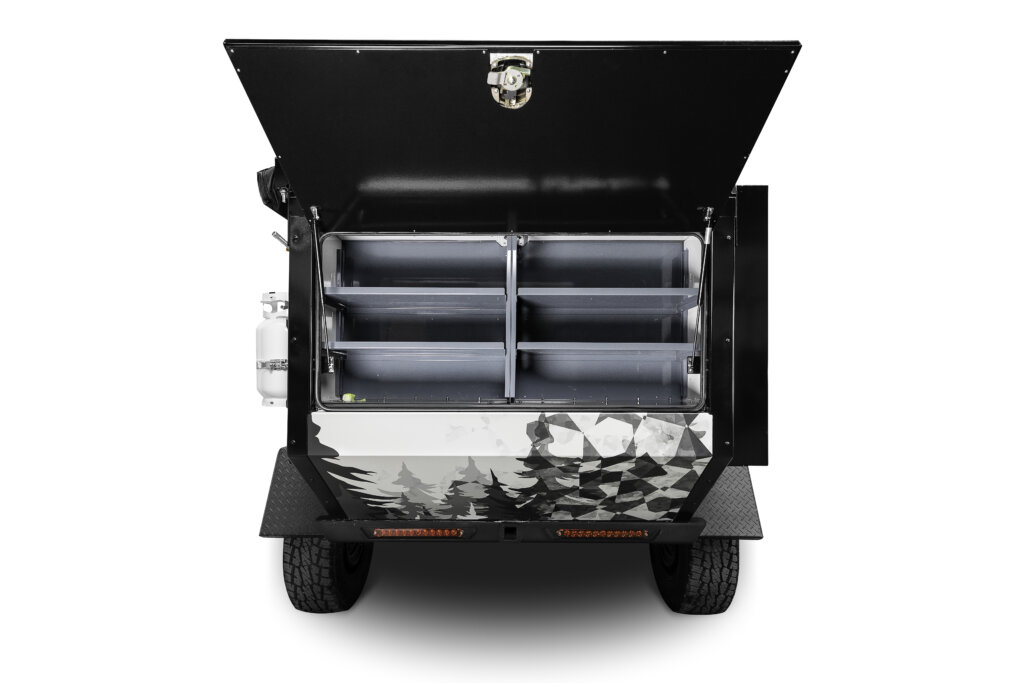 expedition off road camper rear open