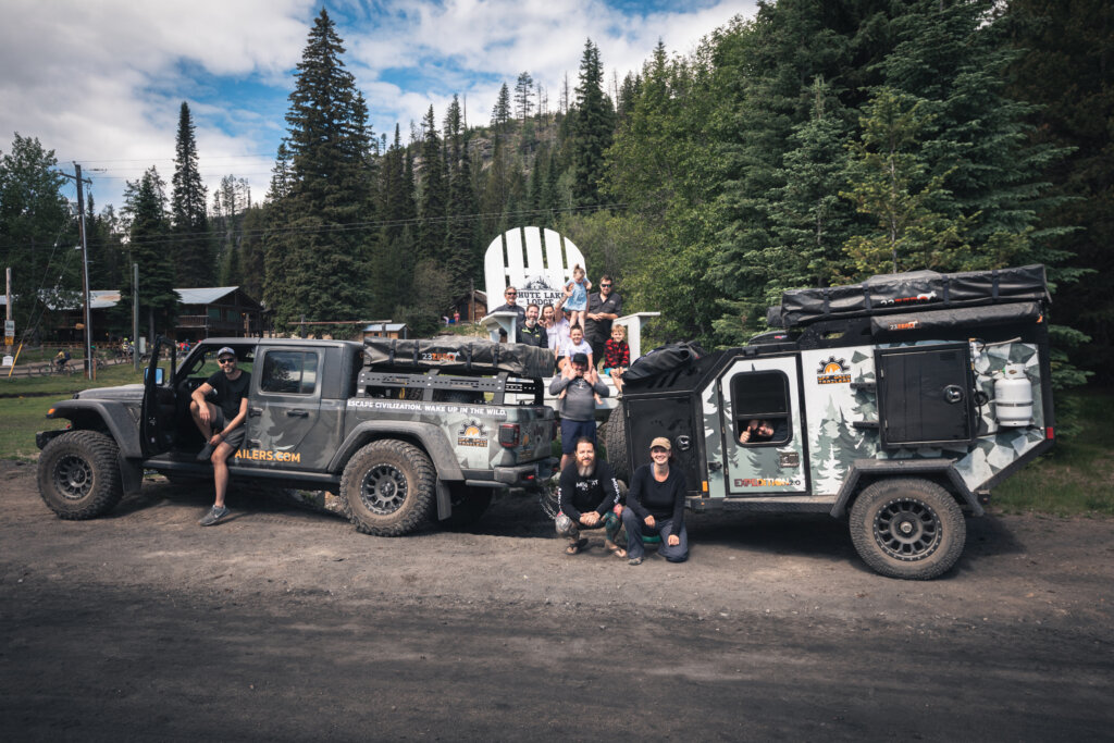 Off Grid Trailers - KVR (Kettle Valley Railway) British Columbia, Canada - the whole crew
